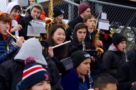 Behind the scenes of the Wayland High School Pep Band