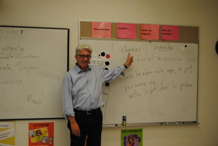 Pictured above is French substitute Philip Kaplan, who will be teaching in place of french teacher Laura Marie until January. Everybody talks about finding your heart; following your bliss, blah, blah blah. That's the hardest thing in the world. Do you realize what a gift it is to have that desire? Because without that desire, you're getting nowhere, Kaplan said.
