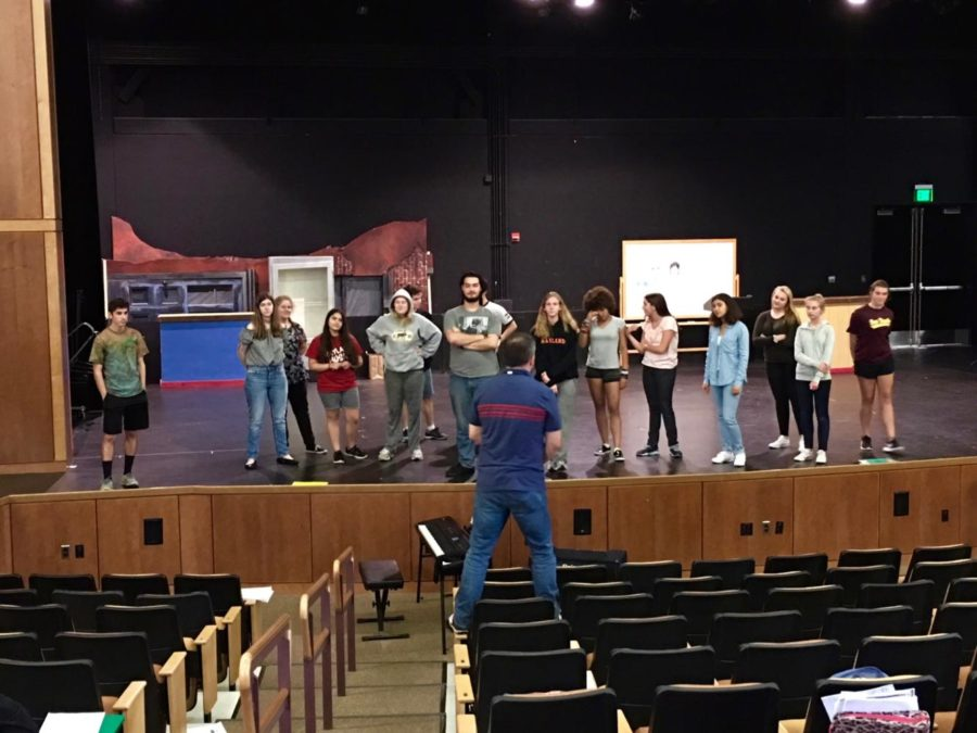 The+cast+of+this+year%27s+fall+musical%2C+%22Little+Shop+of+Horrors%2C%22+as+they+prepare+for+their+show.