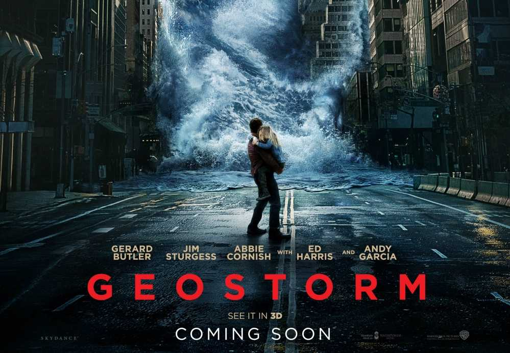 Pictured is the theatrical release poster for the natural disaster film Geostorm. WSPN's Jay Abdella presents his opinion on the movie.  Credit: Den of Geeks