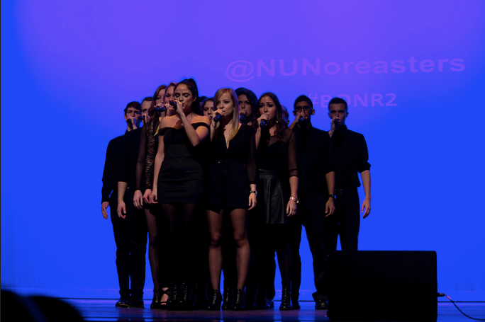 The Noreaster performed at Wayland High School on December 2.