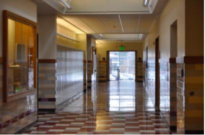 The unsuspecting hallways of Wayland High School await the annual senior prank.