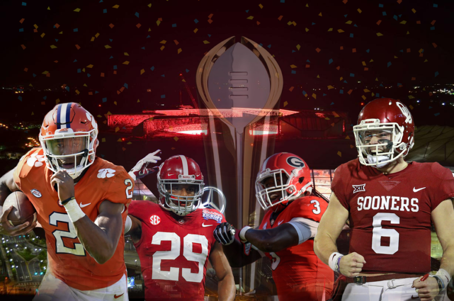Duncan Stephenson previews the CFB Playoff semifinal matchups between Alabama and Clemson, and Georgia and Oklahoma.