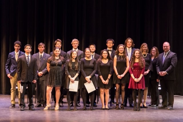 Pictured above are the newest Tri-M inductees.