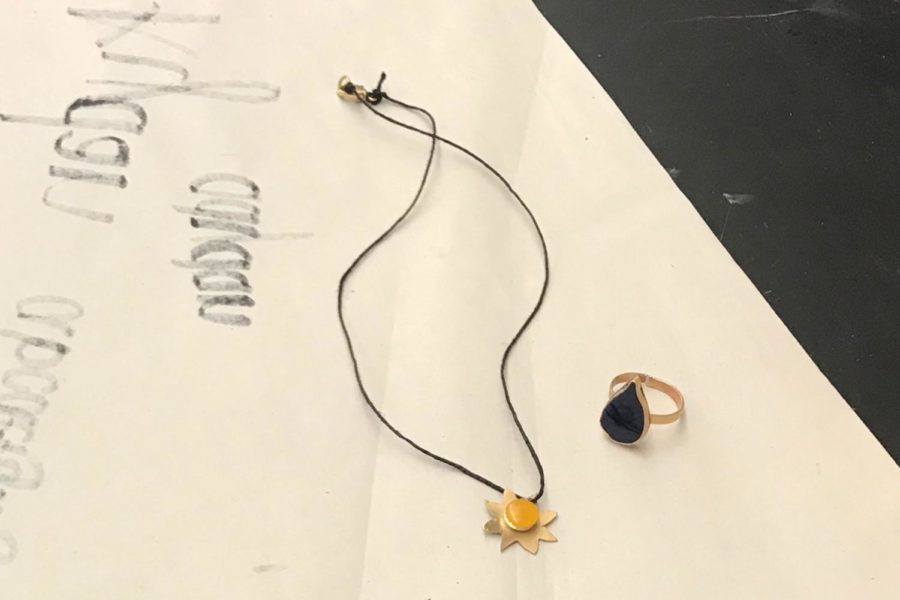 %E2%80%9C%5BFor+the+final+project%5D+I%27m+making+a+necklace+which+is+like+a+sun+and+a+ring+that+is+a+raindrop%2C%E2%80%9D+Lesperance+said.