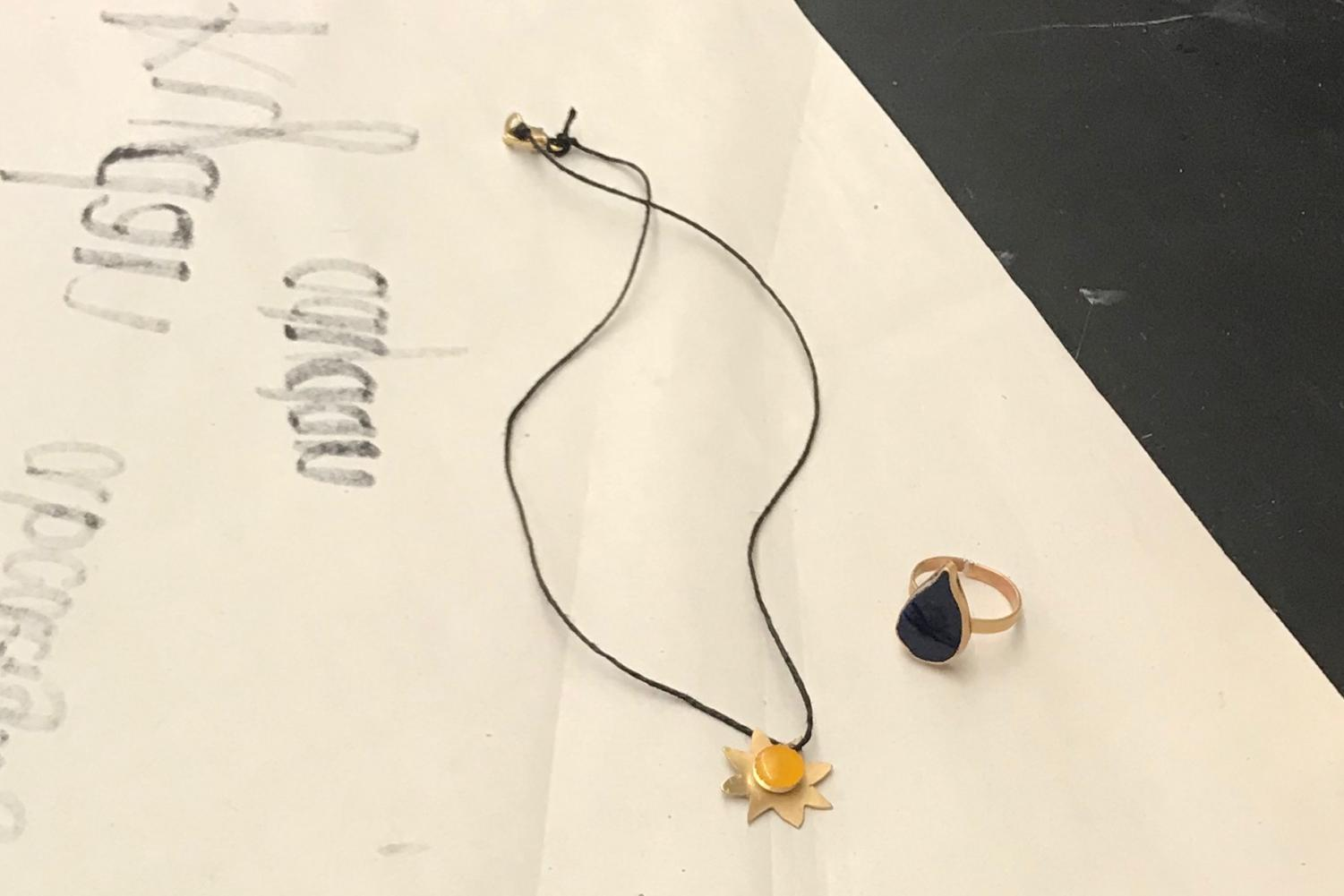 """[For the final project] I'm making a necklace which is like a sun and a ring that is a raindrop,"" Lesperance said."