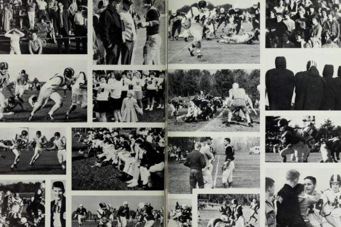 Pictured above is a yearbook photo from 1950 of the Wayland High School football team. WSPN looks into the recent history of the Wayland-Weston rivalry.
