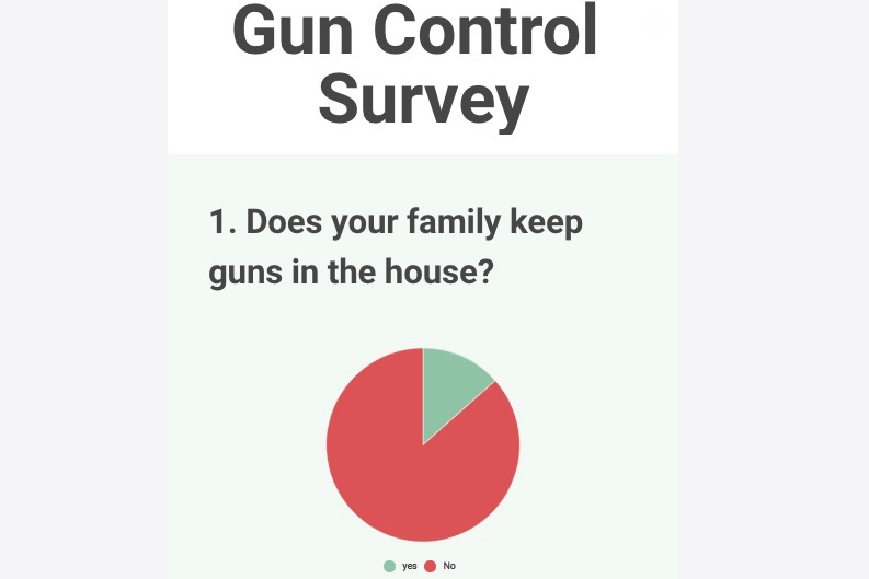 Infographic: Students opinions on gun control