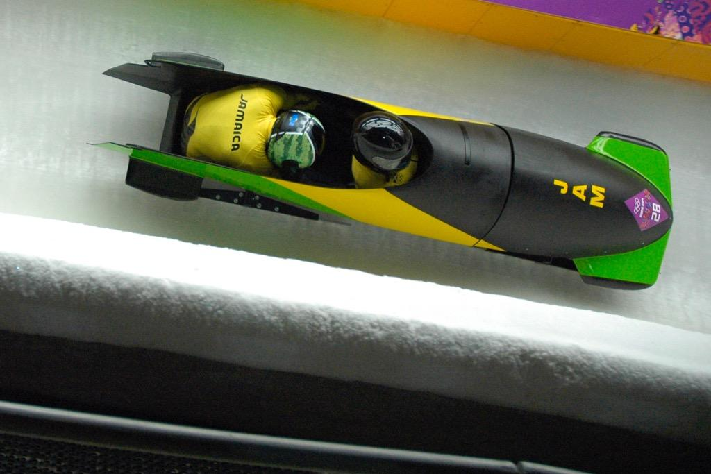 Pictured above is a Jamaican bobsled. The cancelled Winter Week movie