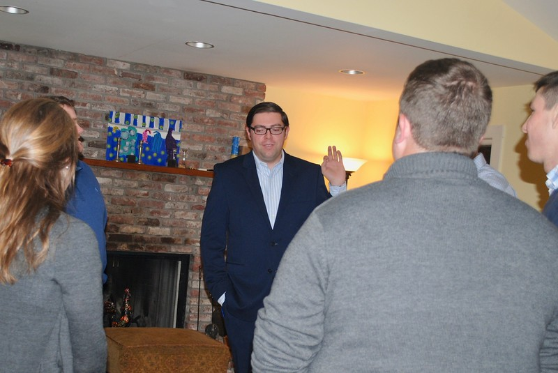 Colin Meiselman spoke with voters during his kick-off event in November of 2017. Meiselman described his stances on education reform, the criminal justice system and gerrymandering on his campaign website.