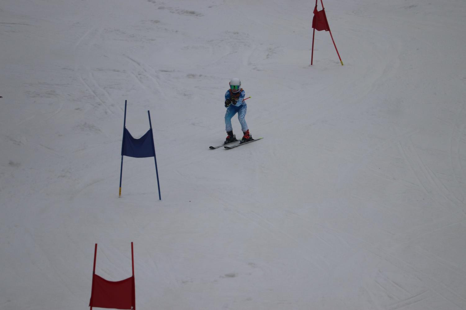 A Wayland skier maneuvers through an Alpine ski course. The Alpine and Nordic ski teams will hold their annual