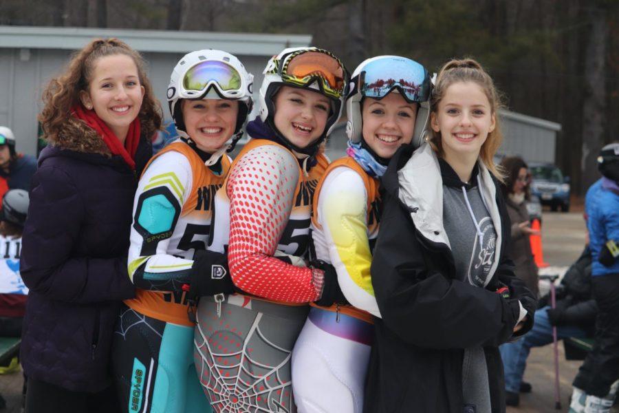 Alpine ski team races at Senior Night (27 photos)