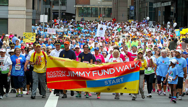 A picture from last years' Boston Marathon Jimmy Fund Walk, an annual fundraiser held in September of each year. The new Cancer Action and Awareness club held its first meeting last week.