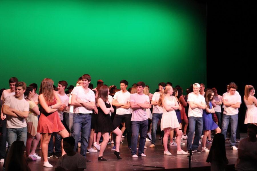 Seniors dance during the co-ed dance.