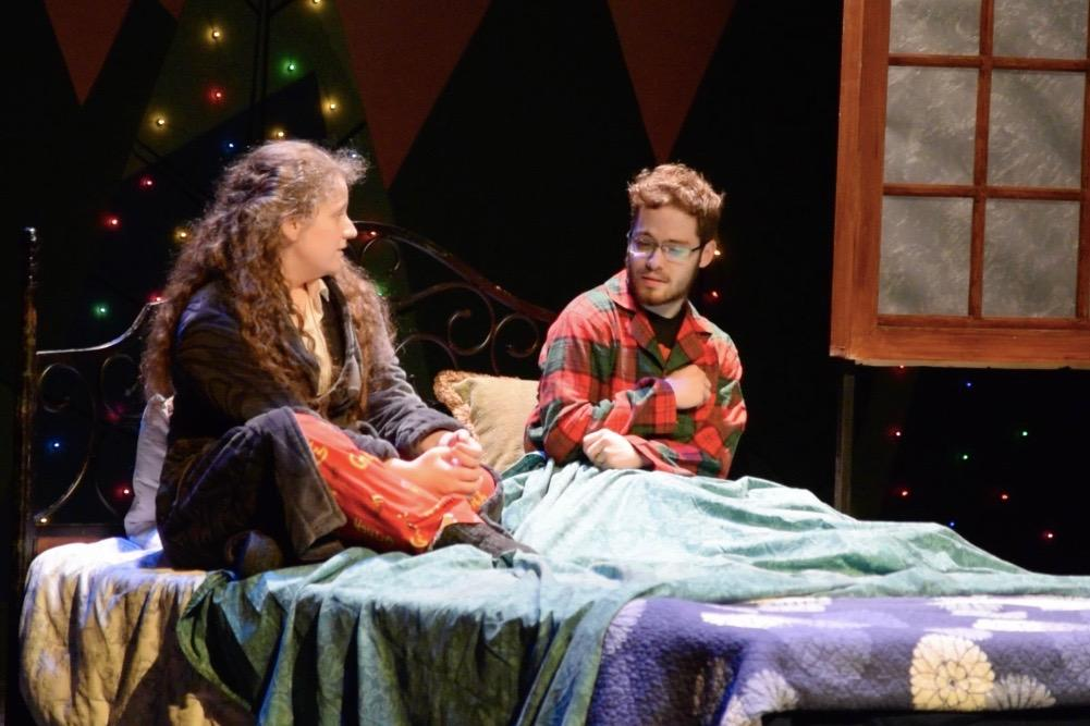 Pictured above is senior Melinda Kalanzis as Rachel and sophomore Matthew Behrle as Tom in WHSTE's performance of