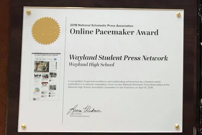 WSPN+recently+won+an+Online+Pacemaker+award+at+the+NSPA+High+School+Journalism+Convention+in+San+Francisco.