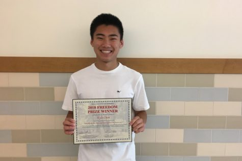 Sophomore Kyle Chen wins 2018 Freedom Prize
