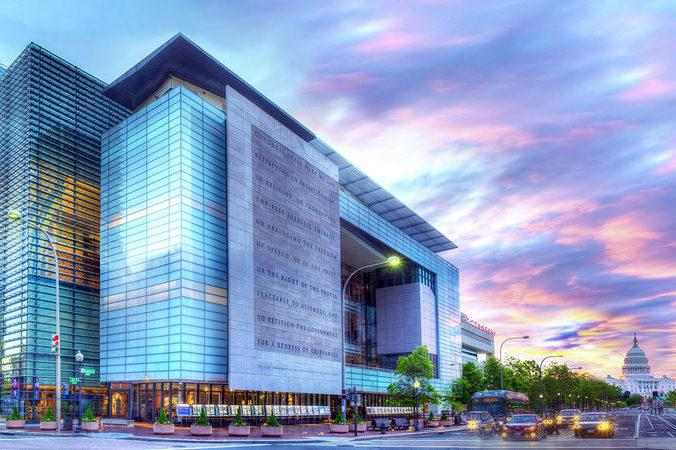 Pictured above is the Newseum in Washington, D.C, home to the Institute that sponsors the conference where WSPN Editor-in-Chief Nathan Zhao will be spending the next week.