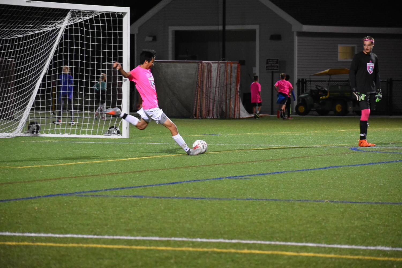 Senior+Ben+Johnson+takes+a+goal+kick.