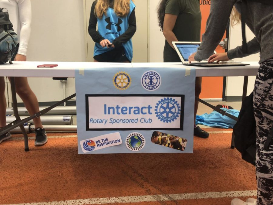 The Rotary Interact club poster at the club fair. The club will be hosting a polio awareness fundraiser tomorrow during all lunches.