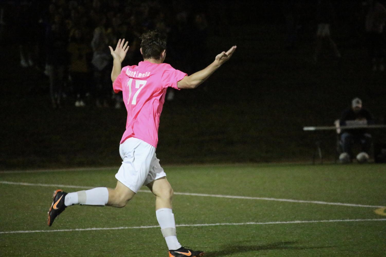 Dretler+celebrates+after+the+team+scores+their+first+goal.