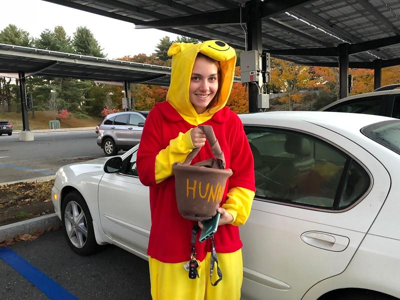 Senior+Samantha+Neuman%2C+dressed+as+Winnie+the+Poo%2C+takes+a+sweet+spin+on+Halloween.+