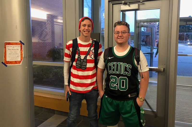 Jack+Dussault+and+Spencer+Shock+dressed+as+Where%27s+Waldo+and+Gordon+Hayward.
