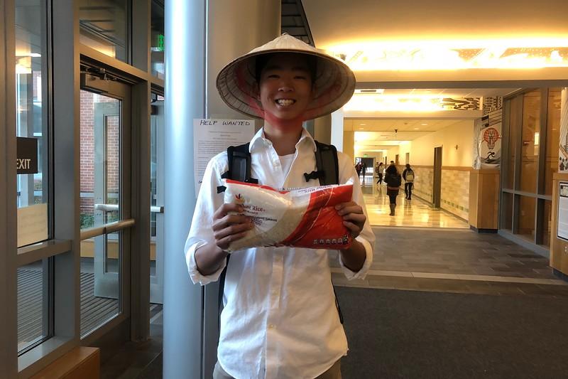 Eric+Greene+dressed+as+a+rice+farmer.
