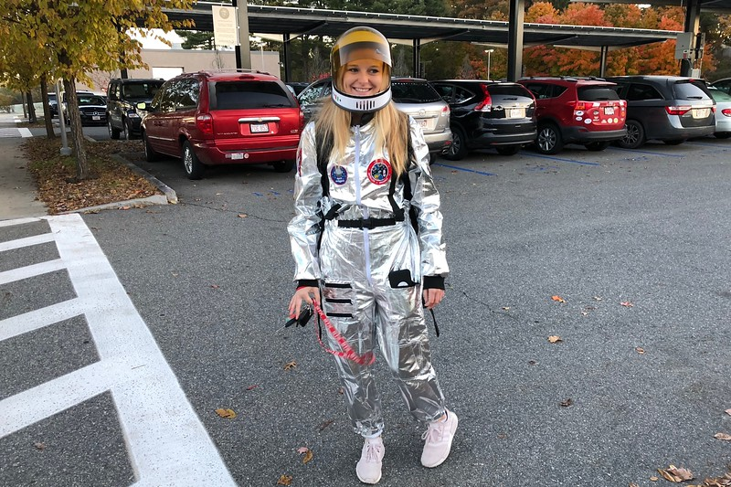 Olivia+Tacelli+is+ready+to+blast+off+in+her+astronaut+costume.