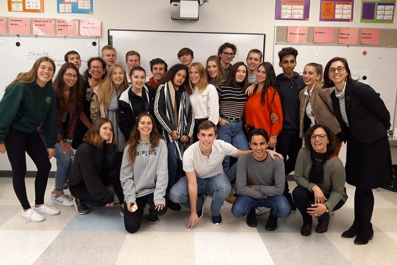WHS+students+with+their+exchange+students.+20+students+from+France+arrived+in+the+US+last+week+as+part+of+the+exchange+program.+%22%5BThe+experience%5D+was+very+good.+There+are+a+lot+of+things+that+you+have+in+America+that+we+don%E2%80%99t+have+in+France.+It%E2%80%99s+very+different%2C%E2%80%9D+French+exchange+student+Maxime+Giraud+said.