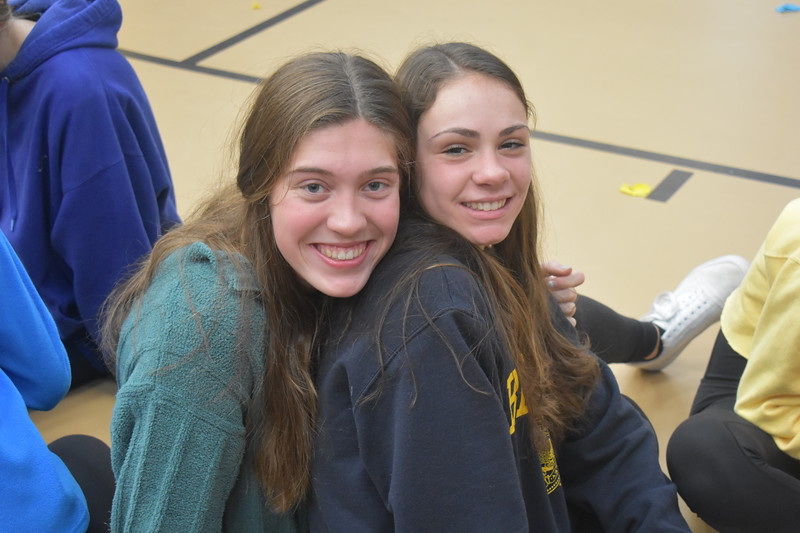 Juniors+Hallie+Bachman+and+Jenna+Ferrick+smile+during+the+carnival.