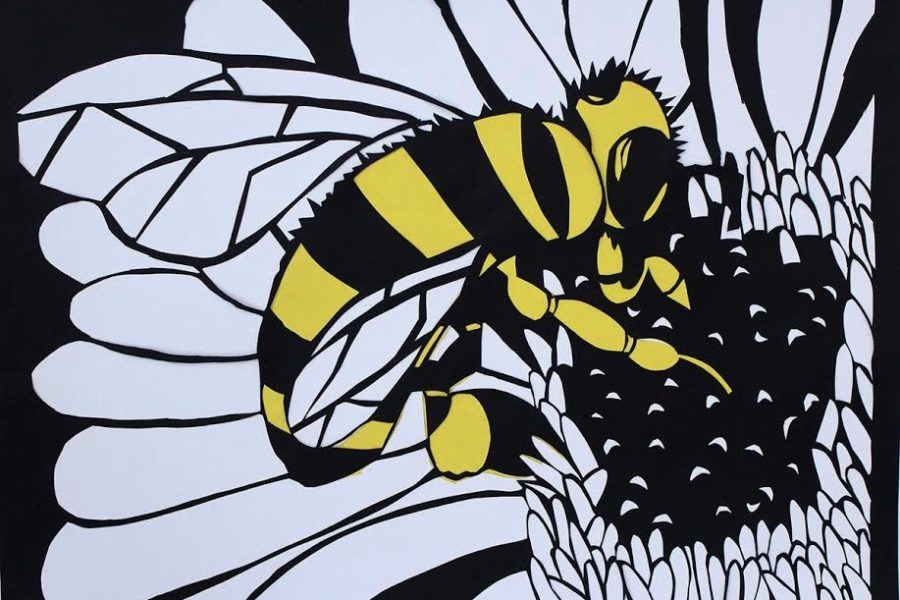 Senior+Gabby+Fargnoli%27s+piece+of+a+bee+extracting+pollen+from+a+flower.+Fargnoli+is+one+of+the+artists+who+will+be+featured+in+the+annual+WHS+art+show+on+Monday%2C+Dec.+17.+%22I%E2%80%99ve+always+been+creative%2C+and+art+is+a+way+I+like+to+express+my+creativity%2C%22+Fargnoli+said.