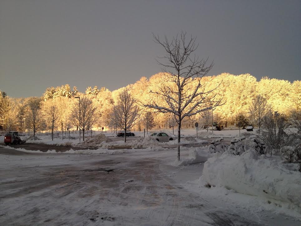 Try to piece this winter picture of the Wayland roads back together!