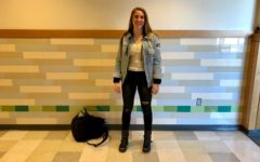 "Senior Gabby Fargnoli dresses in Free People clothing with Frye boots. ""[Be] careful with your patterns, don't go overboard, [and] be careful and considerate,"" Fargnoli said."