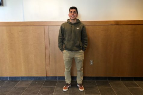 "Senior Mateos Norian dresses in Nike, Uniqlo and Vans. ""Wear what suits your body best. Wear clothing that fits you right. It doesn't really matter what brand it is,"" Norian said."