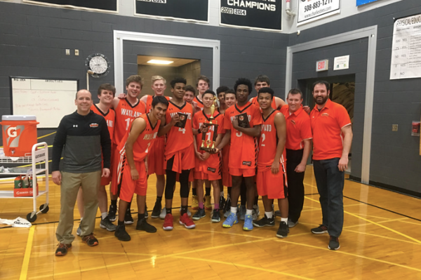The Warriors won the Barry Hutchison Memorial Holiday tournament at Bellingham high school on December 28, 2018.