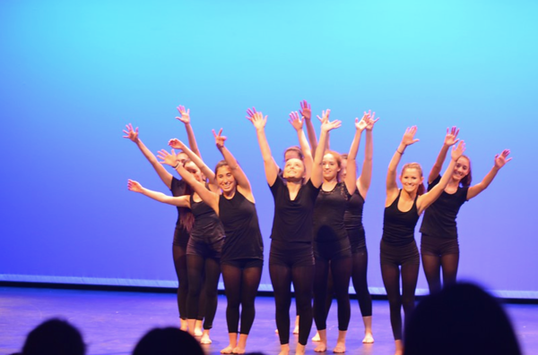 WHS' Window Dance Ensemble performs during its annual spring show. The group took on five new members this spring, including junior Michayla Mathis, sophomore Taylor Travis, and freshmen Sarah Liszewski, Sammy Janoff, and Taylor McGuire.