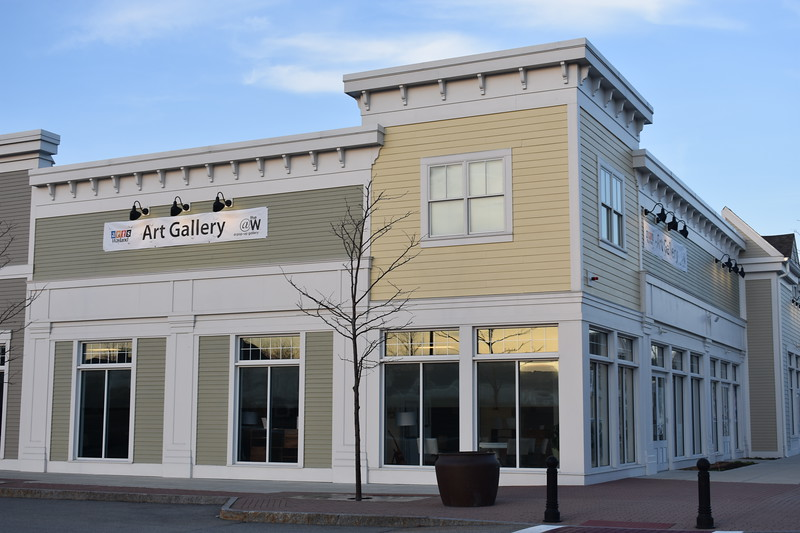 A new art gallery sponsored by Arts Wayland, pictured above, opens in the Wayland town center.