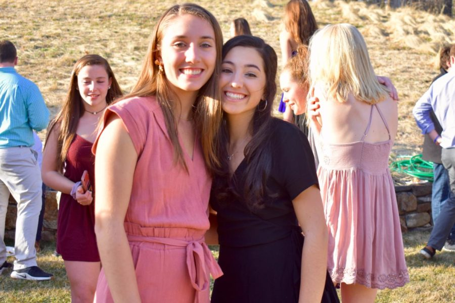 Seniors+Eden+Vanslette+and+Nicole+Eredekian+embrace+each+other+at+the+end+of+senior+year.