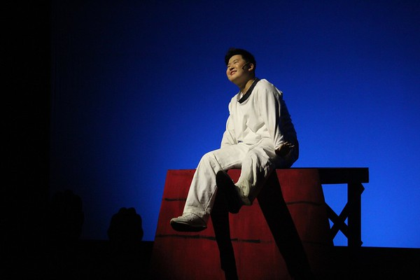 Sophomore Kaiyang Zhang playing Snoopy in the WHSTE fall play, Youre a Good Man, Charlie Brown. Zhang has been acting for around four years and has been a part of many different plays. Everything gives you a new feeling and a new expression, Zhang said. Acting gives me this new perspective on different subjects and matters because of how they are portrayed through the writing and the acting.