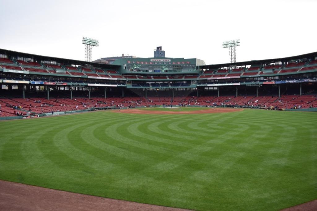 Fenway+park+slowly+fills+with+fans+before+the+ceremony.+The+Boston+Red+Sox+played+the+Oakland+Athletics.