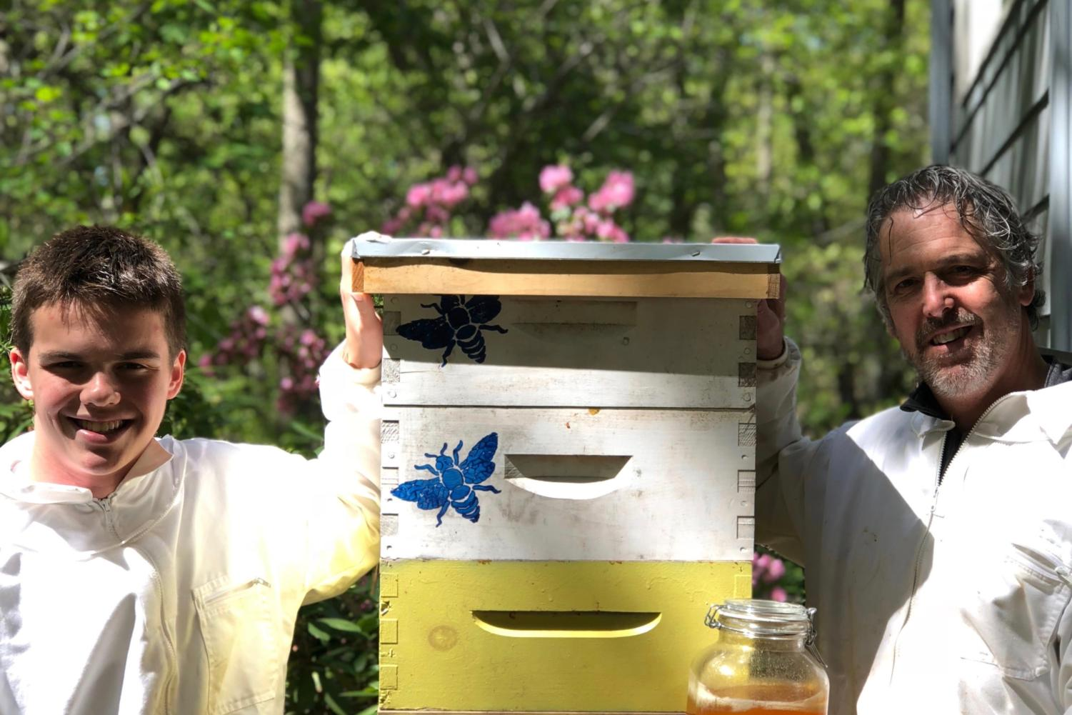WHS sophomore Jay Provost, along with his father Bob, have not only taken up the hobby of beekeeping, but they have turned it into their own business.