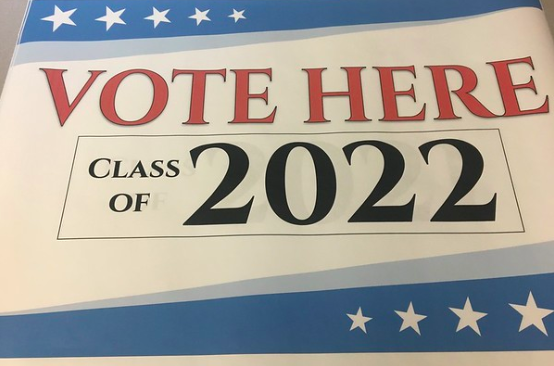 On May 23 and 24, the AP Government and Politics class will be hosting the annual student elections. Pictured above is a banner that will instruct students where to vote.