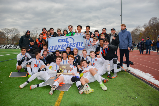 "Last year, the boys varsity soccer team accomplished their goal of winning the Division III state title. With such high standards from the year before, the boys soccer team has some big shoes to fill. ""Obviously, coming from a state title, it's hard to feel no pressure, but we just have to do what we have to do, and we'll get the outcome we want,"" senior captain Alex Kashian said."