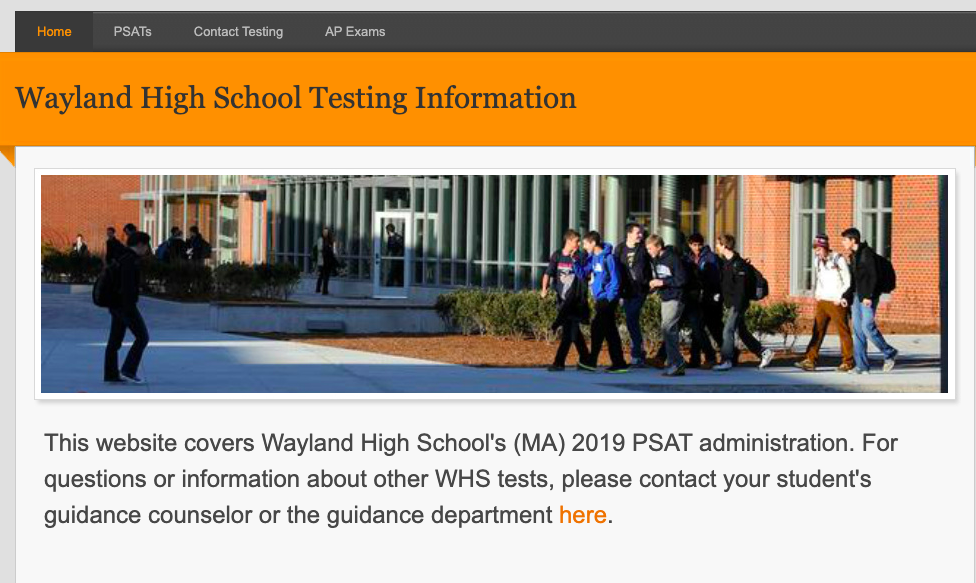 For more information on the PSAT, visit the website whstesting.com.
