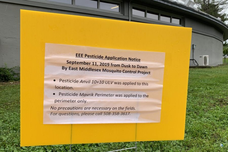 This past Wednesday, the East Middlesex Mosquito Control Project issued for an EEE pesticide application taking place at the high school. This way, the school is hoping to prevent the risks while athletes have practices on the grass fields.