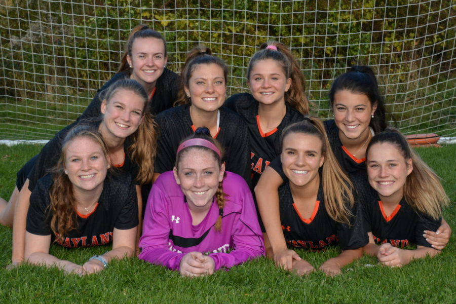 "The Girls Varsity Soccer Senior Night game was at Acton-Boxborough High School on Saturday, October 26th at 7pm. ""We're getting recognized, and all of the seniors will start the game, which is exciting,"