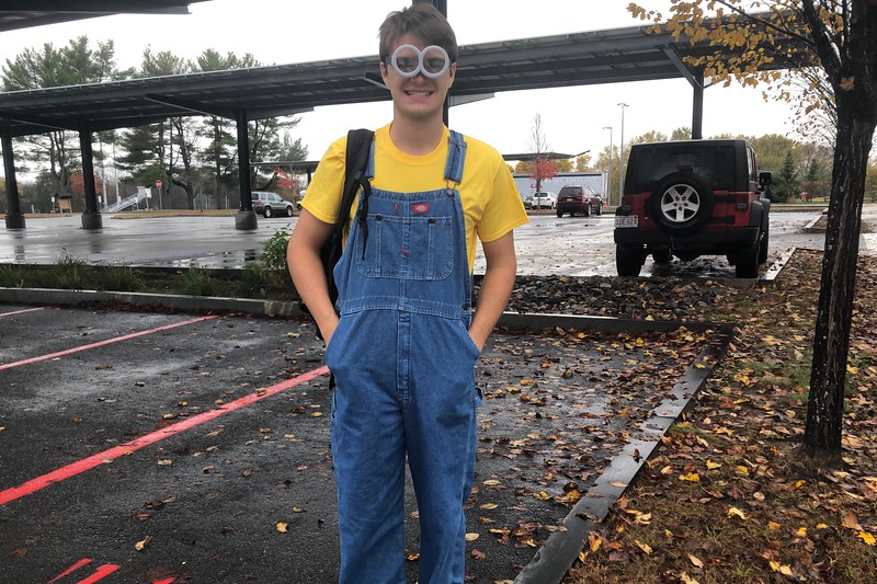 Senior Gavyn Davies, along with his friends, came to school dressed as a minion from Despicable Me.