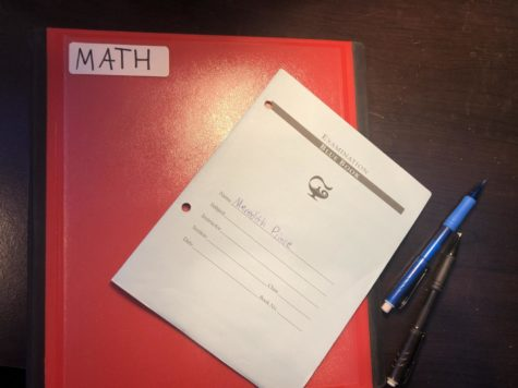 Math department adopts blue books and reflection sheets