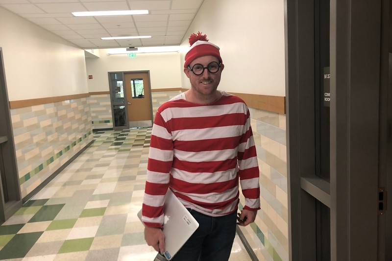 Waldo is found, and it seems to be math teacher Eric Wolven. Waldo's favorite subject is cleary math!